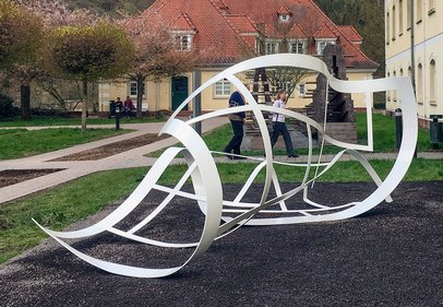 Whatever you say, 2018, Skulpturenpark Heidelberg, Stahl / Steel, 350 x 400 x 200 cm